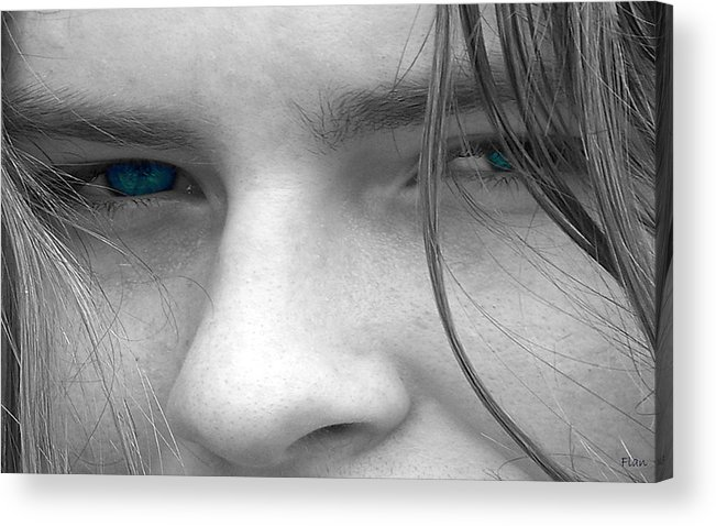 Male Acrylic Print featuring the photograph Those Blue Eyes by Ruben Flanagan