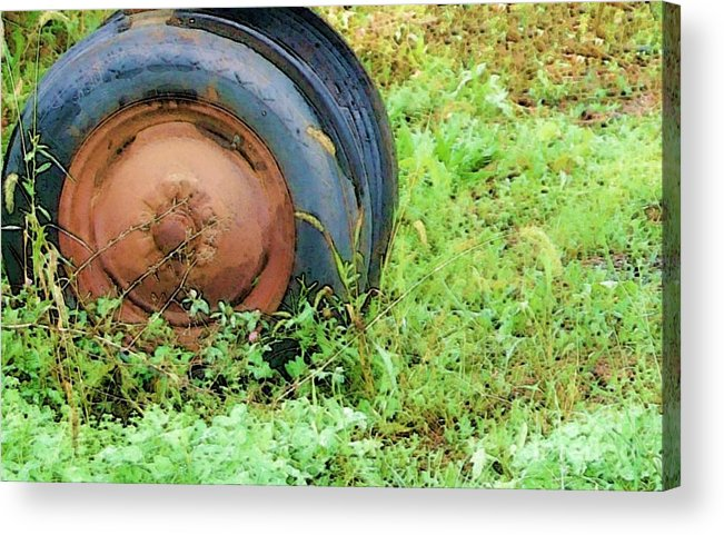 Tire Acrylic Print featuring the photograph Tired by Debbi Granruth