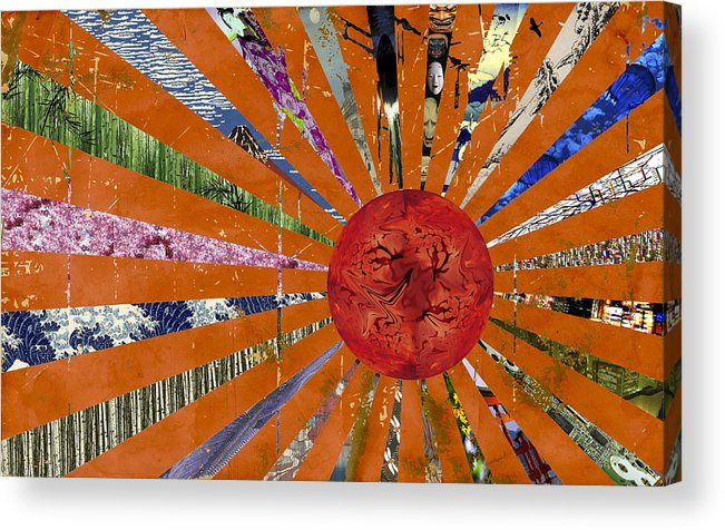 Japan Acrylic Print featuring the digital art Tribute by Marcus L Wise