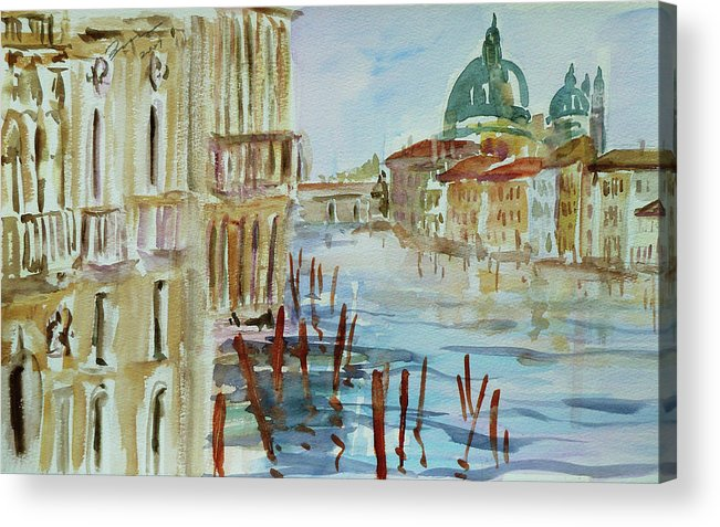 Venice Acrylic Print featuring the painting Venice Impression IIi by Xueling Zou