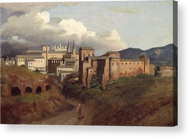 View Acrylic Print featuring the painting View Of Saint John Lateran Rome by Joseph Desire Court