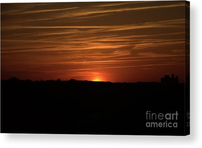 Sunset Acrylic Print featuring the photograph Virginia Beach Sunset by Betsy Foster Breen