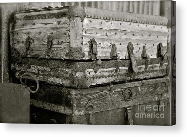 Trunks Acrylic Print featuring the photograph Well Traveled by Lori Leigh