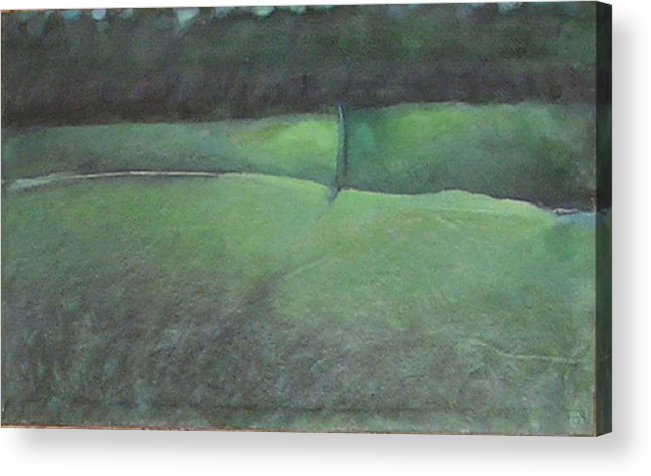 Landscape Acrylic Print featuring the painting You Remember Where The Old Road Went by Mary Brooking