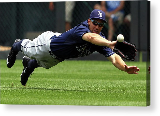 People Acrylic Print featuring the photograph Tampa Bay Rays V Kansas City Royals 2 by Jamie Squire