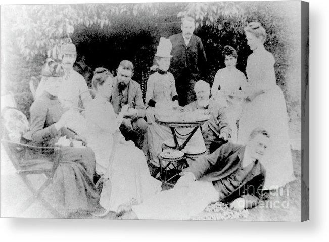 Classical Music Acrylic Print featuring the photograph Edward Elgar At A Tea Party With Helen Weaver, 1879 by English School