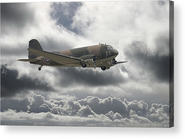 Aircraft Acrylic Print featuring the digital art  Dc3 Dakota  Workhorse by Pat Speirs