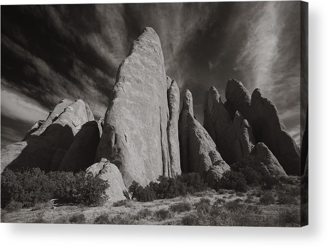 Utah Landscape Acrylic Print featuring the photograph Red Rock Sentinels by Wendell Thompson