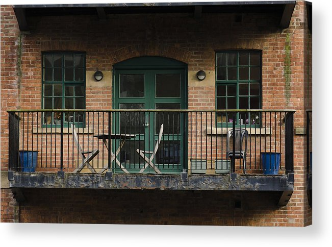 Balcony Acrylic Print featuring the photograph A Balcony On The River Aire by Pablo Lopez