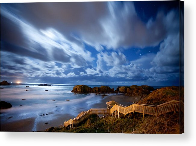 Bandon Acrylic Print featuring the photograph Bandon Nightlife by Darren White