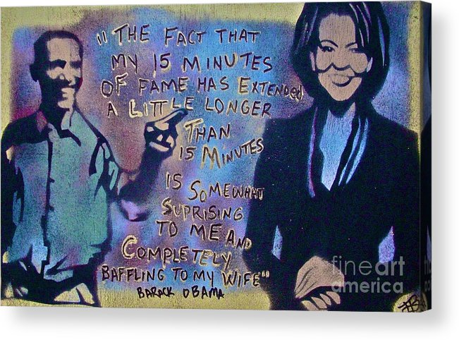 Barack Obama Acrylic Print featuring the painting Barack With Michelle by Tony B Conscious