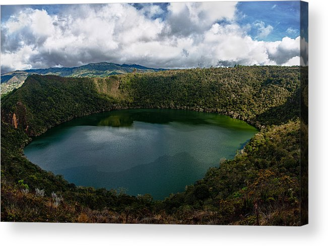 Lake Acrylic Print featuring the photograph Beautiful Lake Guatavita by Jess Kraft