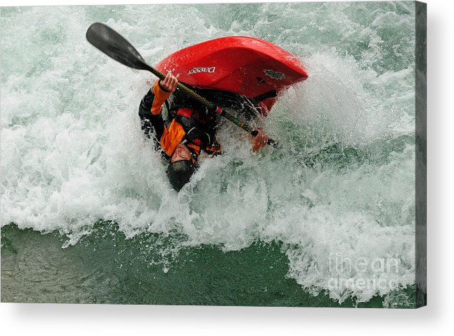 Kayaking Acrylic Print featuring the photograph Bottoms Up by Vivian Christopher