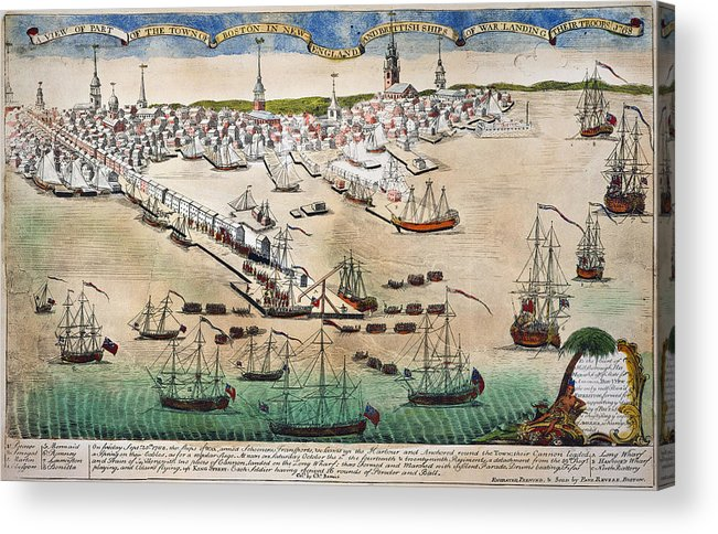 1768 Acrylic Print featuring the photograph British Landing, 1768 by Granger