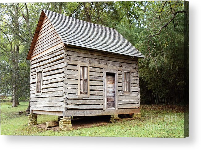 Shack Acrylic Print featuring the photograph Cabin In Pittsboro Nc by Alan Russo