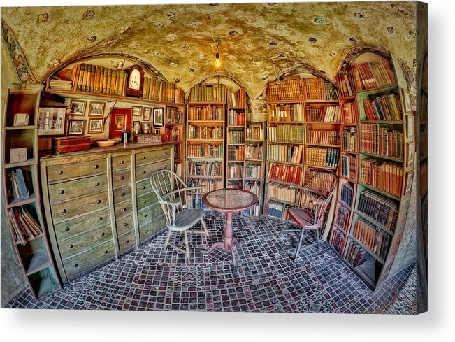 Byzantine Acrylic Print featuring the photograph Castle Map Room by Susan Candelario