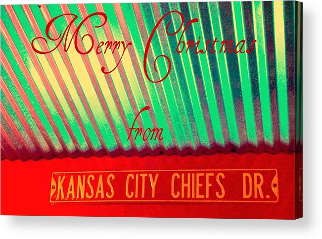 Christmas Acrylic Print featuring the photograph Chiefs Christmas by Chris Berry
