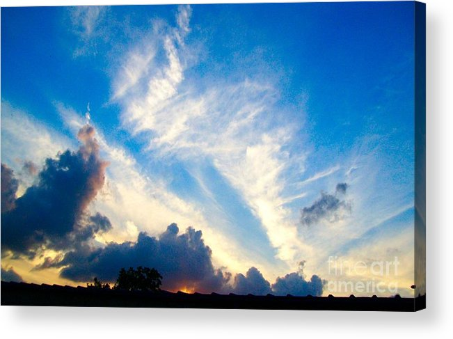 Clouds Acrylic Print featuring the photograph Clouds Over Comfort by Mountain Femme