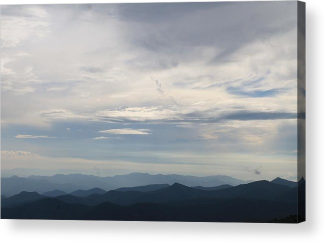 Cloudscape Acrylic Print featuring the photograph Clouds Over The Appalachians by Mary Koval