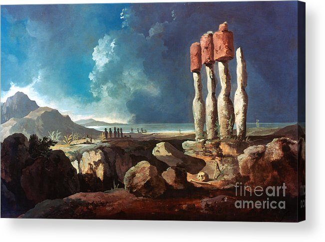 1774 Acrylic Print featuring the photograph Cook: Easter Island, 1774 by Granger