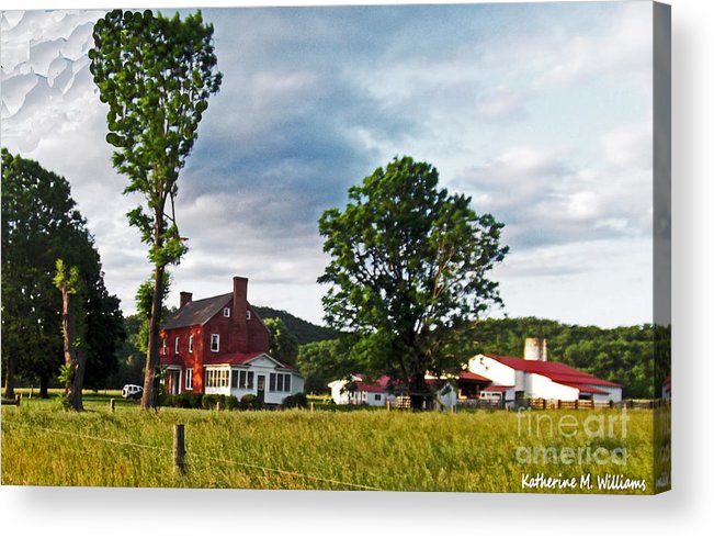 In Acrylic Print featuring the photograph Country Home by Katherine Williams
