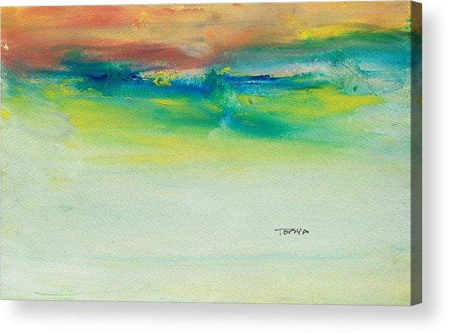 Ocean Acrylic Print featuring the painting Distant Swells by Tonya Schultz