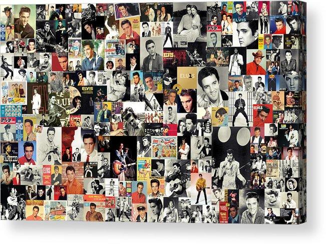 Elvis Presley Acrylic Print featuring the digital art Elvis The King by Taylan Apukovska