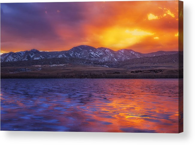 Sunset Acrylic Print featuring the photograph Fire And Ice by Darren White