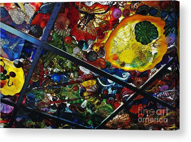 Glass Acrylic Print featuring the photograph Glass Ceiling Abstract by Valerie Garner