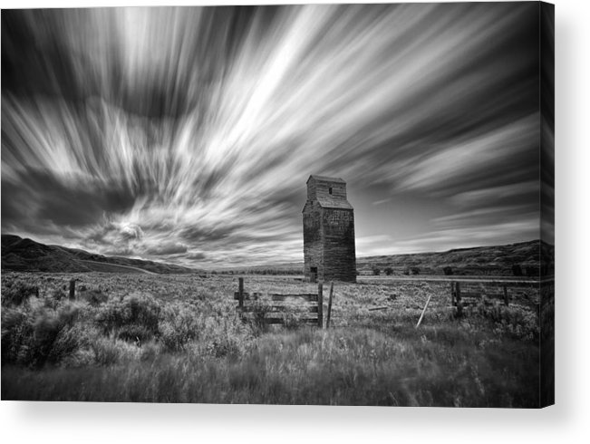 Landscape Acrylic Print featuring the photograph I Can Withstand This by Yves Gagnon
