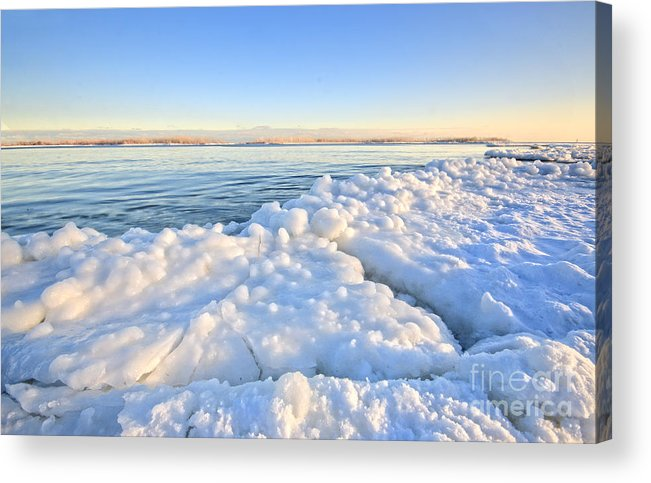 Ibeach Acrylic Print featuring the photograph Ice Goosebumps by Charline Xia