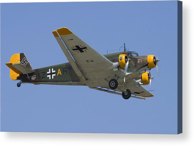 3scape Acrylic Print featuring the photograph Junkers Ju-52 by Adam Romanowicz