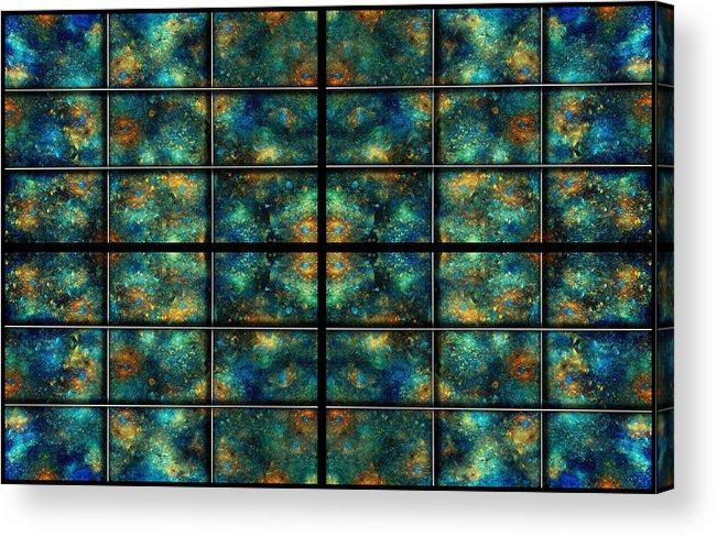 Star Acrylic Print featuring the digital art Limitless Night Sky by Betsy C Knapp
