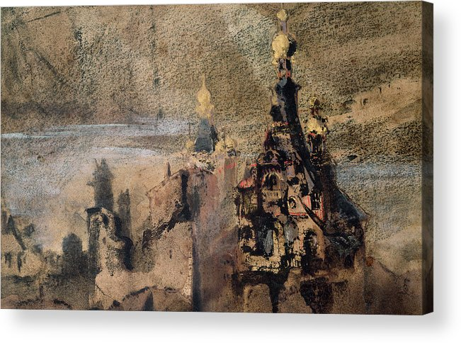 Victor Hugo Acrylic Print featuring the painting Memory Of Spain by Victor Hugo