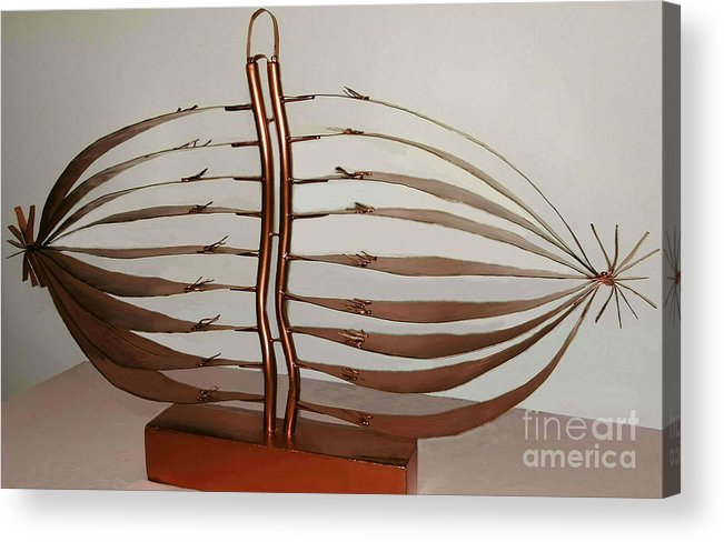Mitotic Spindle Acrylic Print featuring the mixed media Mitotic Spindle by Franco Divi