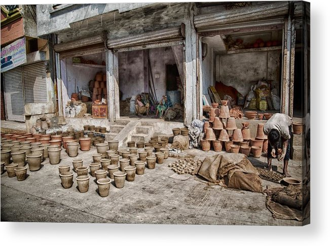 5d Mark Iii Acrylic Print featuring the photograph Pot Sellers by John Hoey
