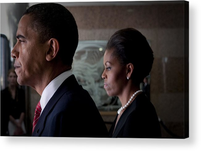 Barack Obama Acrylic Print featuring the photograph President And Mrs Obama by Mountain Dreams
