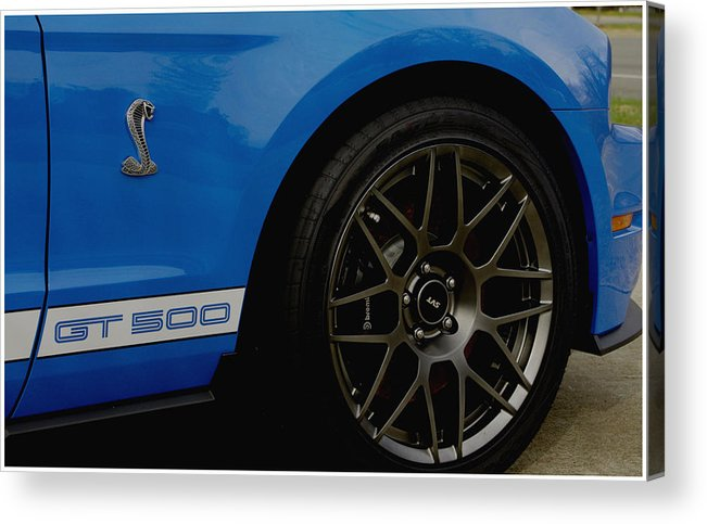 Mustang Acrylic Print featuring the photograph Shelby Cobra Gt 500 / Ford by James C Thomas