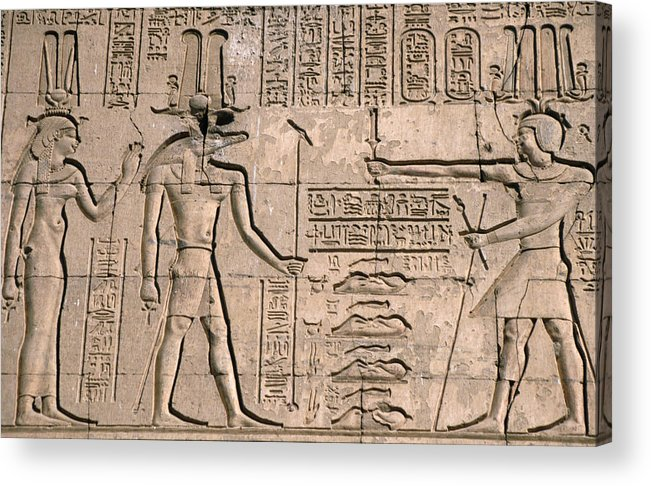 The ancient relief carvings of the temple of kom ombo the temple