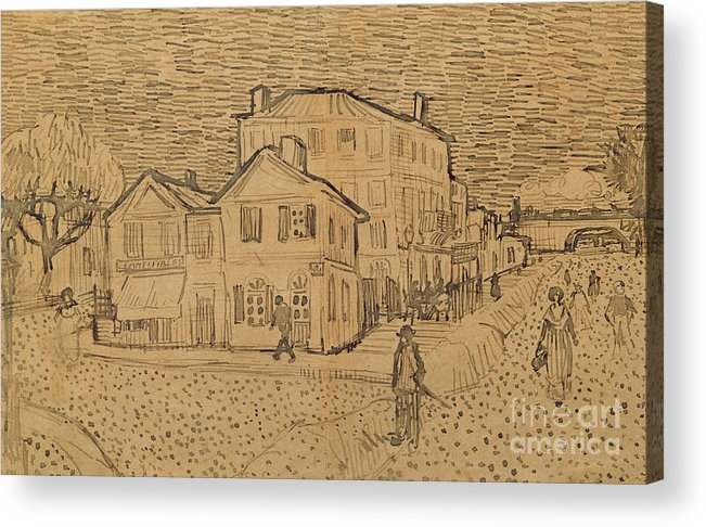 Drawing Acrylic Print featuring the drawing The Artists House In Arles by Vincent Van Gogh