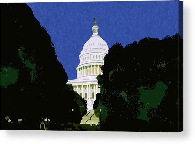 Capitol Acrylic Print featuring the painting The Capitol by Pharris Art