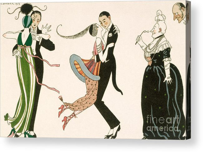 Dance Acrylic Print featuring the painting The Madness Of The Day by Georges Barbier