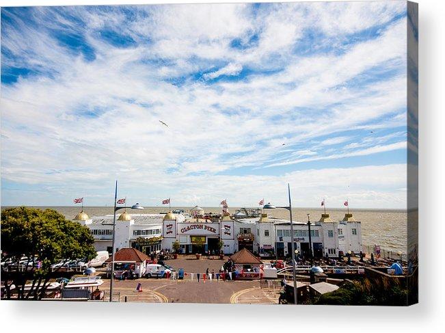 Beach Acrylic Print featuring the photograph Clacton Pier by Dawn OConnor