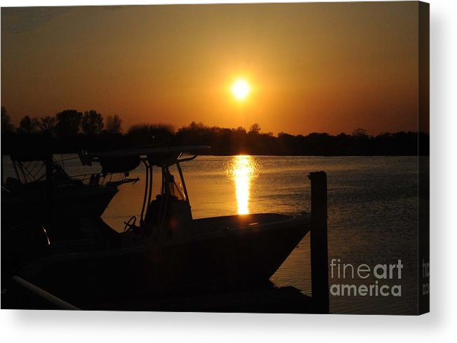 Sunset Acrylic Print featuring the photograph A Perfect Day by Claire Reilly