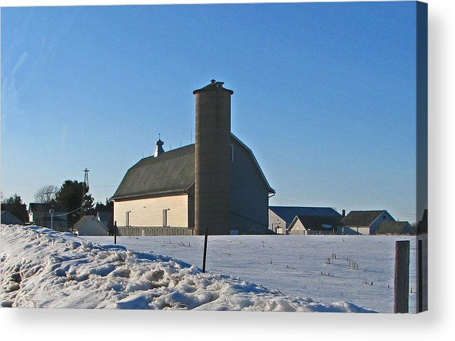 Barn Acrylic Print featuring the photograph A Warm Winter Day by Victoria Sheldon