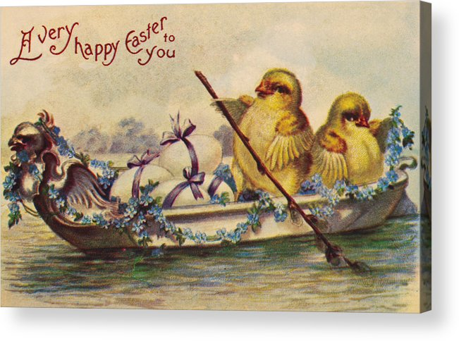 19th Century Acrylic Print featuring the photograph American Easter Card by Granger