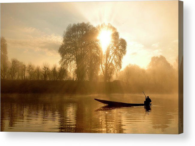 Horizontal Acrylic Print featuring the photograph Awakening  (kashmir,india) by PKG Photography