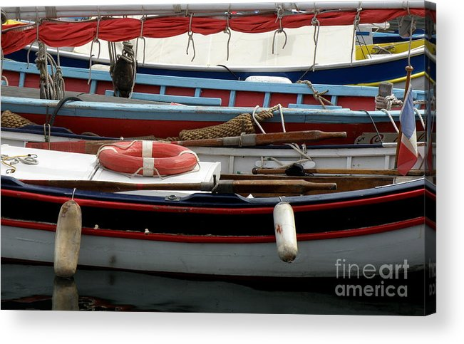 Boats Acrylic Print featuring the photograph Colorful Wooden Boats by Lainie Wrightson