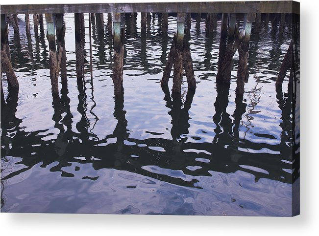 Pilings Acrylic Print featuring the photograph Dancing Pilings by Ruth H Curtis