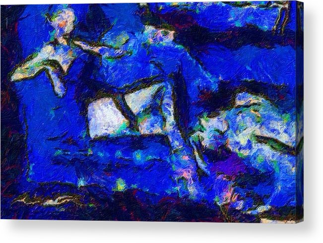 Impressionist Fashion Painting Acrylic Print featuring the painting Fashion 315 by Jacques Silberstein